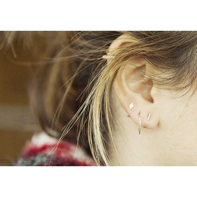 """283 Me gusta, 5 comentarios - S a n s o e u r s (@sansoeurs) en Instagram: """"#sansoeurs #bar #diamond #piercings #rosegold #bangle #18k #finejewellery #findyours @blanca_suarez…"""""""