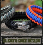 """Survival Strap"" bracelet - Wear it as a ""fashion statement"" and  ""unravel the paracord to get out of a jam."""