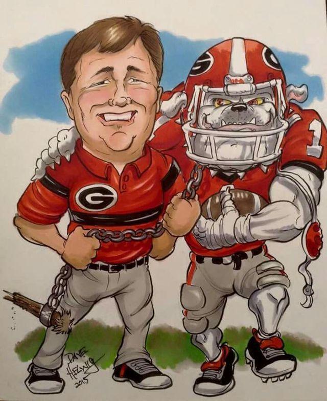 Coach Kirby Smart Georgia Bulldawgs