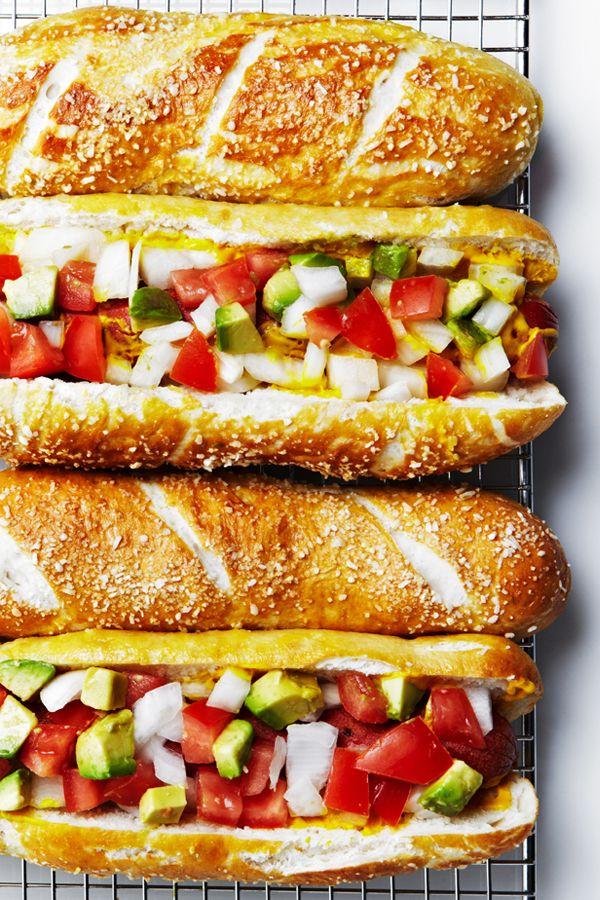 Easy homemade Pretzel Hot Dog Buns recipe. #BiteMeMore #recipes
