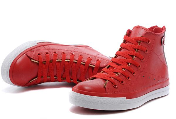 36c26891054e Red Leather Converse Double Zip John Varvatos Oxford Winter Chuck Taylor All  Star High Sneakers  converse  shoes