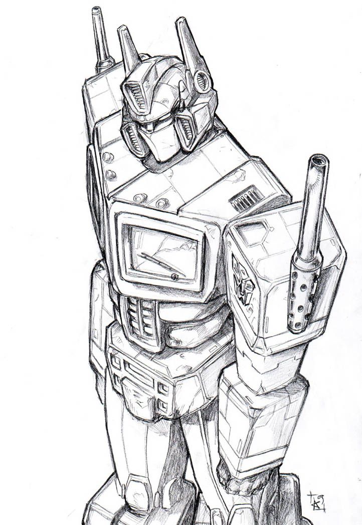 Optimus Prime awesome sketch :3