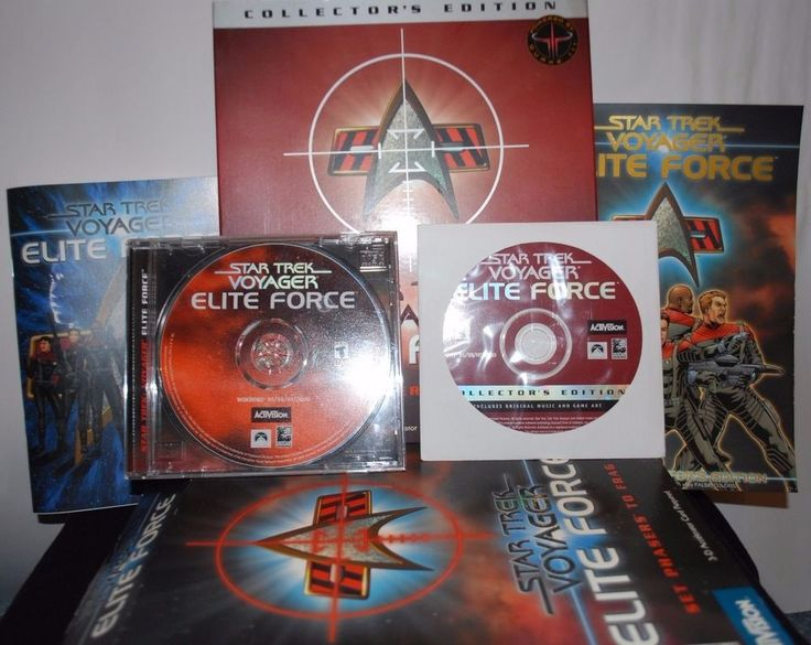 STAR TREK VOYAGER ELITE FORCE COLLECTORS EDITION PC GAME SET PHASERS TO FRAG
