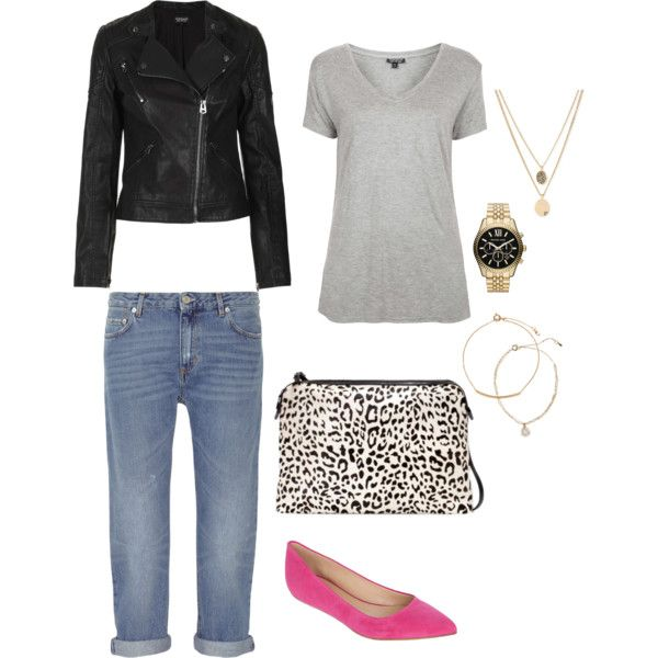 """""""Boyfriend Jeans Outfit""""  on Polyvore"""