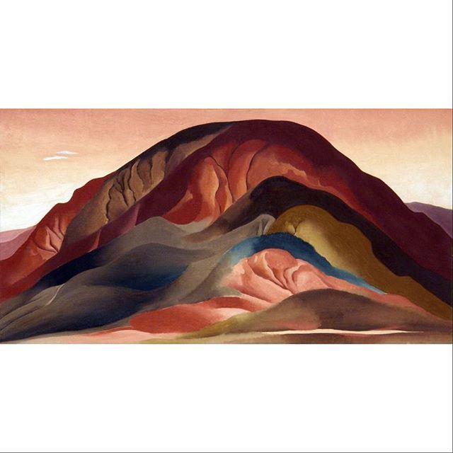 Georgia O'Keeffe \ Rust Red Hills, 1930 (oil on canvas)  #georgiaokeeffe #brauermuseumofart #collecteurs #collecteursmasterslist