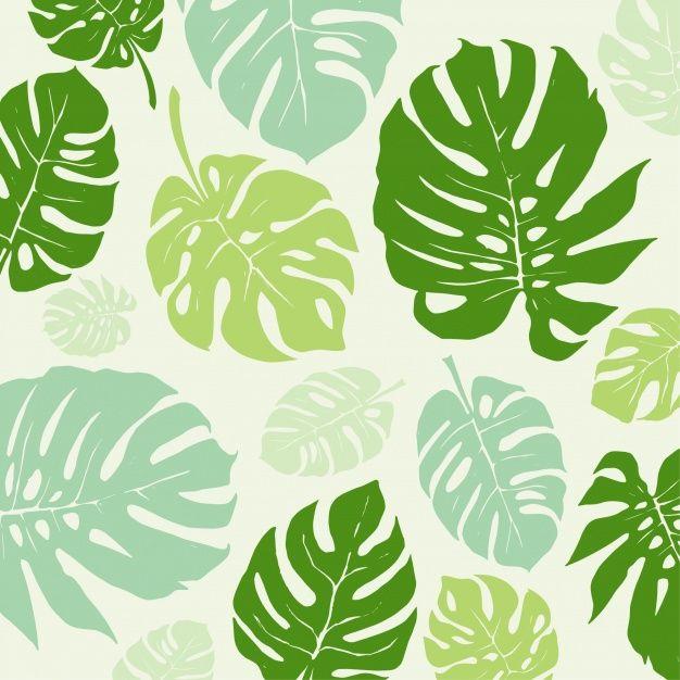 Fondo con patrón de hojas verdes Vector Gratis en Fondo  Por johndory / Freepik
