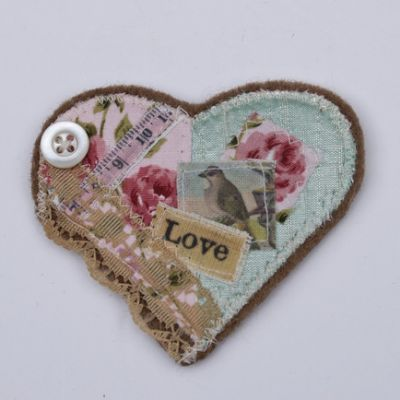 Shabby Chic Style Brooch | Craftjuice