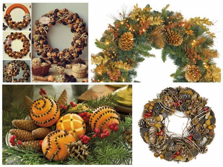 """Милые сердцу штучки: Новогодний декор: """"Рождественские венки из шишек и..."""