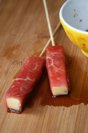 Brochettes boeuf fromage comme chez le japonais 2