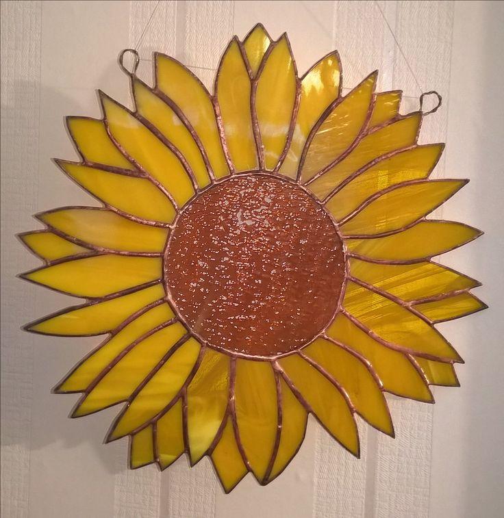 Stained glass sunflower Tiffany slunečnice