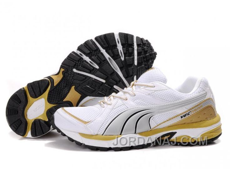 Puma Complete Vectana Shoes White/Silver/Yellow 1181 Top Deals