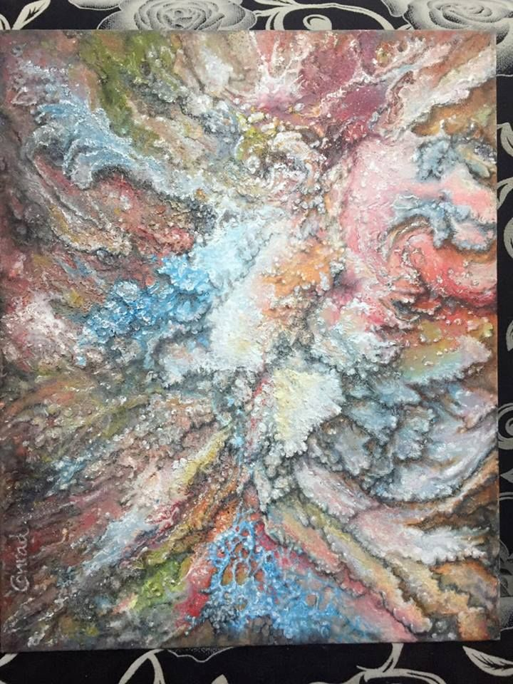 Energy. An Expressive Abstract Acryil Painting, made by Conrad van Zelst. Volendam, Netherlands