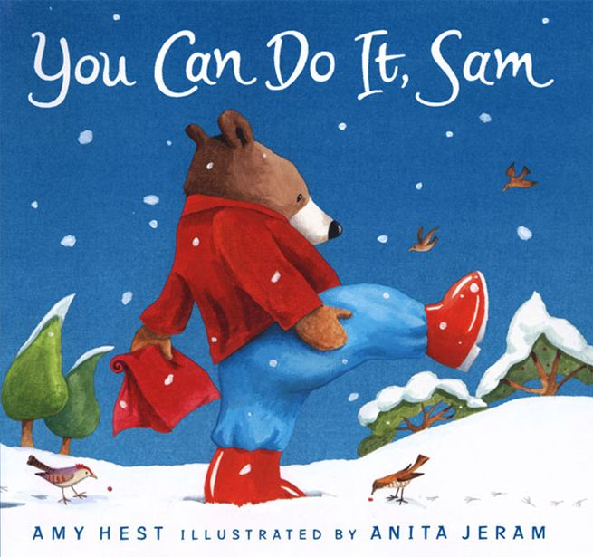 You can do it, Sam! Peek inside our review about a beautiful winter book for kids. It's about braveness and generosity - a perfect Christmas read!
