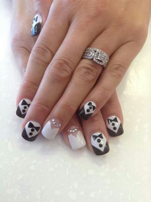 Assorted Wedding Nail Designs