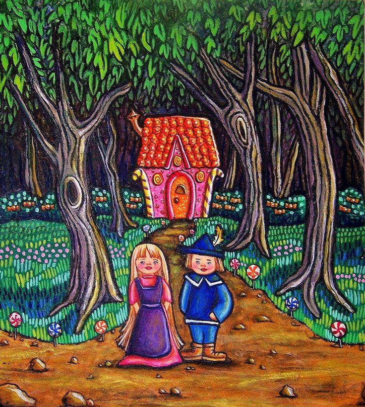 Hansel et Gretel, acrylique