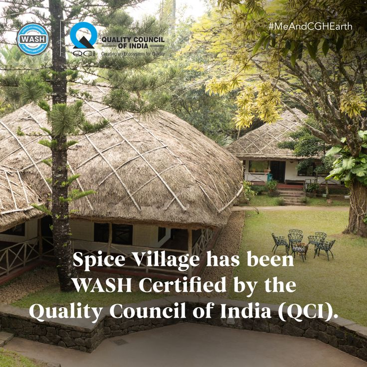 CGH Earth's Spice Village is WASH certified by the Quality