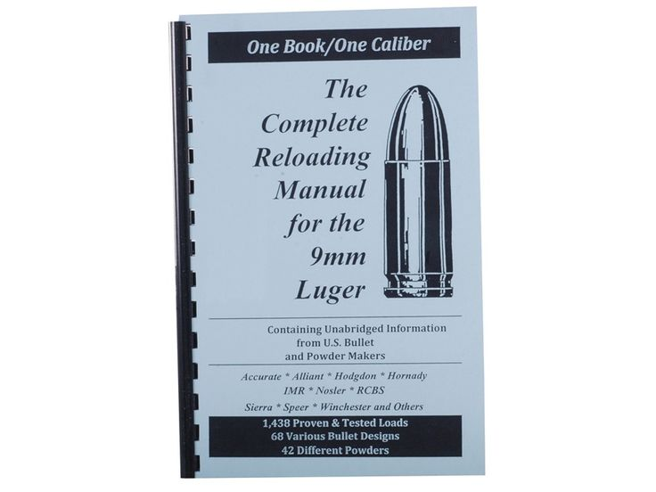 "Product detail of Loadbooks USA ""9mm Luger"" Reloading Manual"