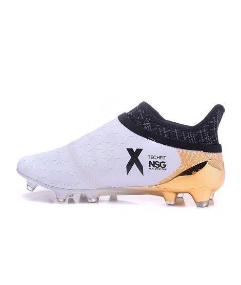 competitive price d695c c7db2 Adidas X 16 Purechaos FG-AG FODBOLDSTØVLE BLØDT UNDERLAG KUNSTGRÆSMen  fodboldstøvler - hvid guld hvid