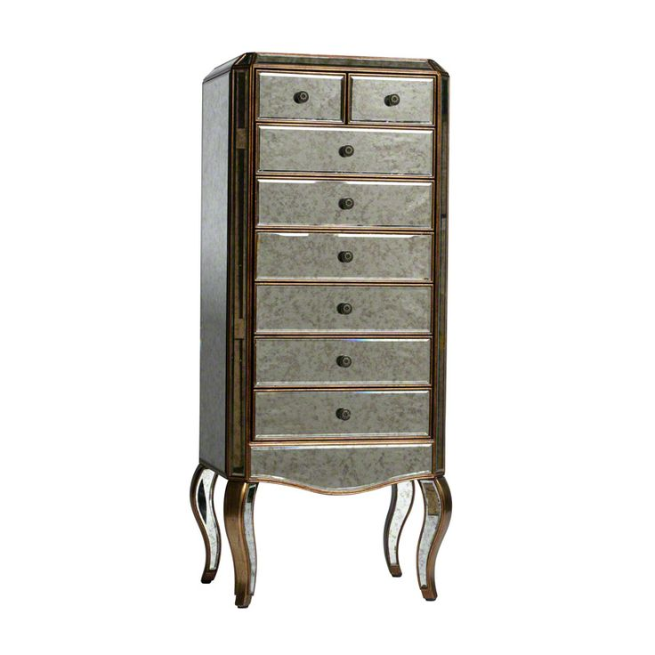 Stunning Tall Boy part of the Antiqued style venetian glass range available in gold and silver finish