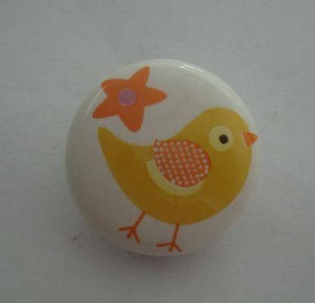 Porcelánová úchytka Chicken
