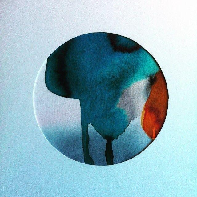 #lonehartmann #akvarel #watercolor #mixedmedia #circle