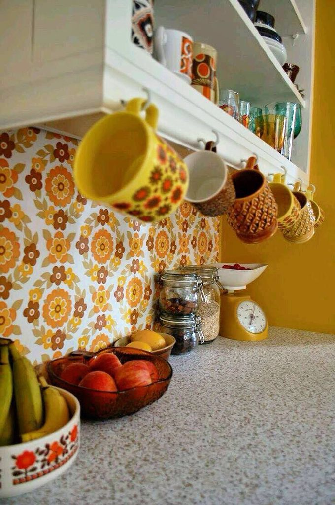 Typical 1970's kitchen decor.