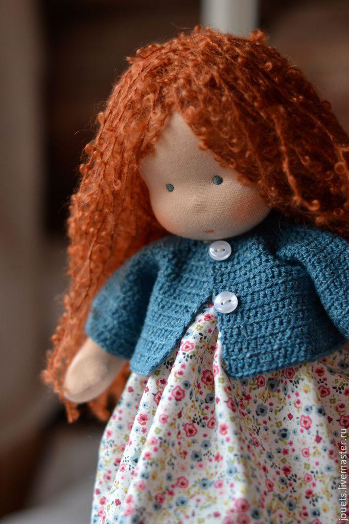 Купить Малышка Рыжуля, 30см - рыжий, вальдорфская кукла, вальдорфская игрушка, кукла для девочки