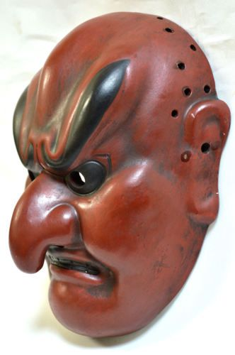 Mascara-japonesa-tradicional-Bugaku-Batoh-demonio-Noh-Kagura-Kabuki-gigaku-Samurai