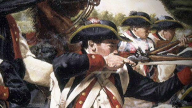 filmmateriaal rond de Amerikaanse Revolutie