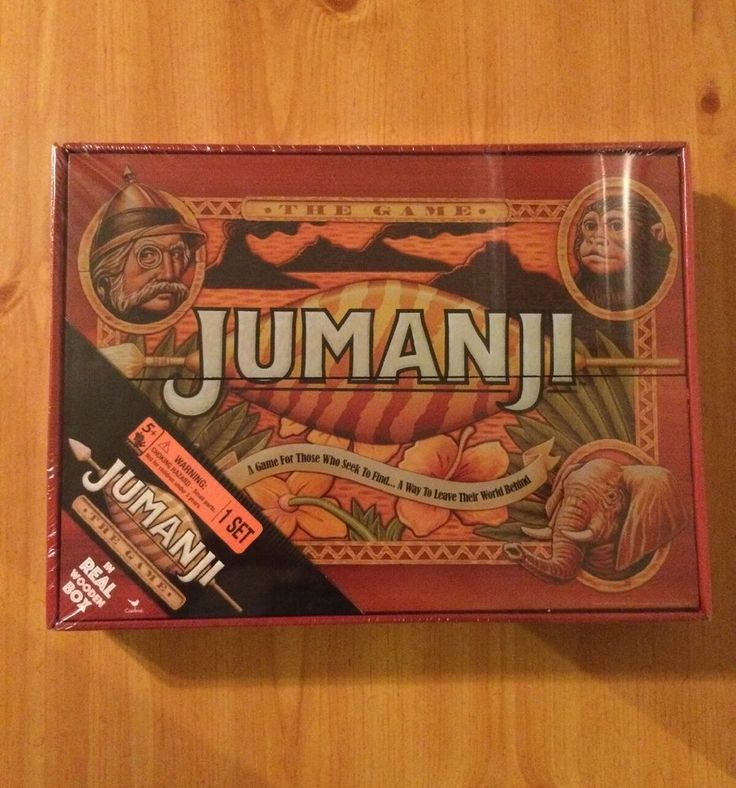 NEW JUMANJI BOARD GAME CARDINAL EDITION IN REAL WOODEN WOOD BOX !! PRIORITY SHIP #Cardinal