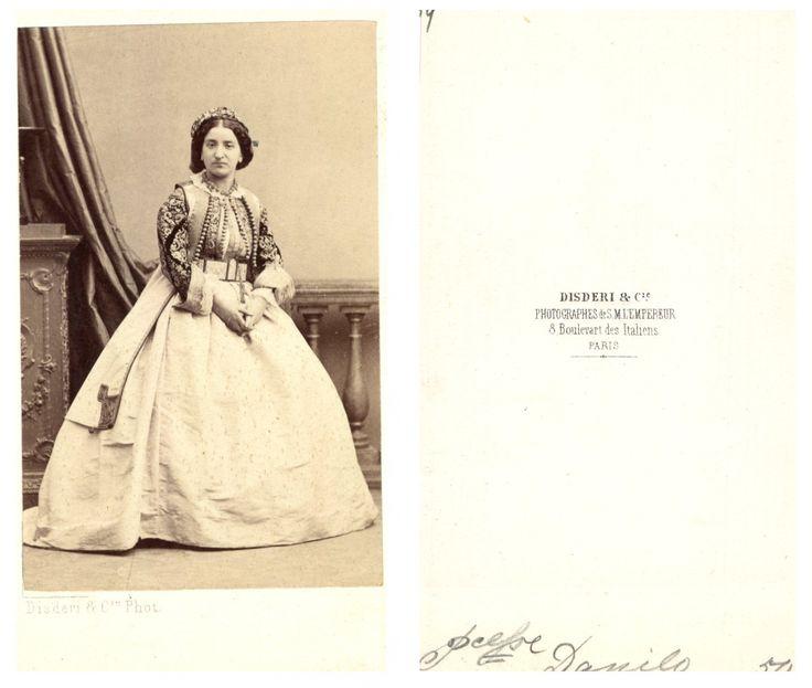Darinca, princesse de Monténégro    #CDV #portraits #Familles_Royales_et_Impériale