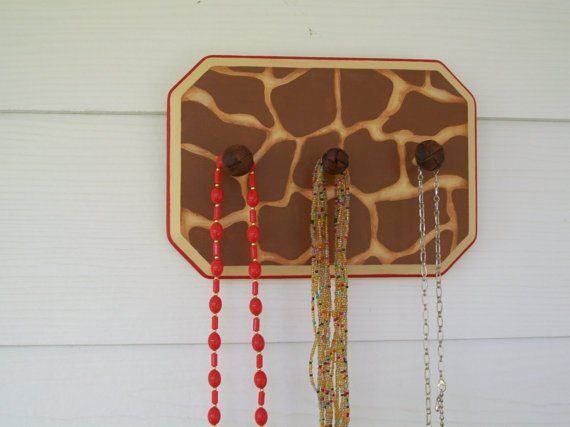 OOAK Giraffe Jewelry Holder by LeapofFaithCreations on Etsy