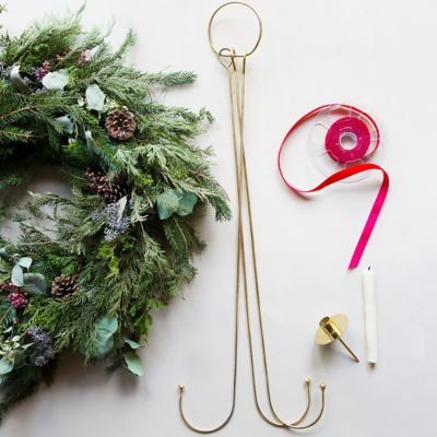 Terrain How-To: A Holiday Greens Chandelier #shopterrain