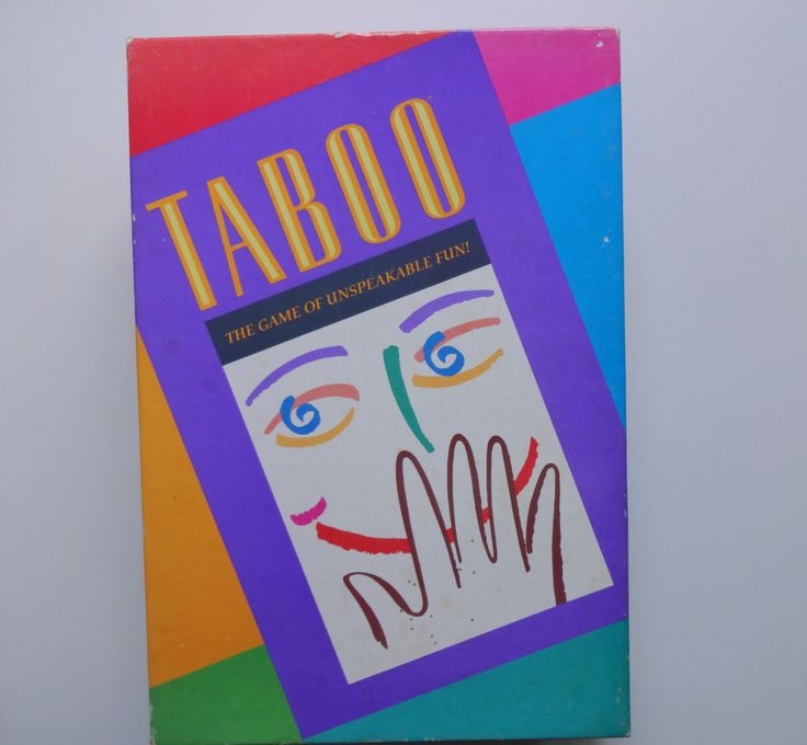 Vintage Taboo Board Game 1991 by WylieOwlVintage on Etsy