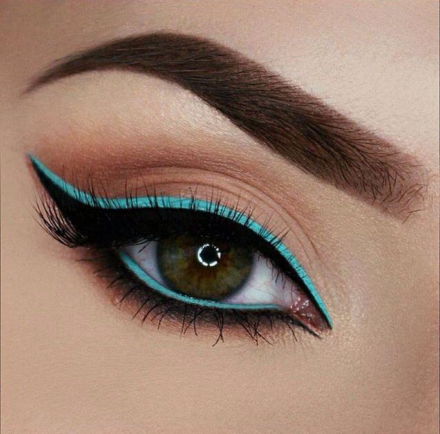 "Jeffree Star Cosmetics' ""Breakfast at Tiffany's"" liquid lipstick used as eyeliner."