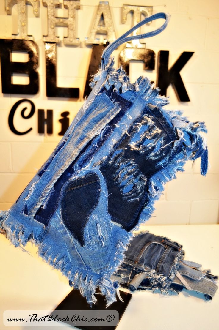 DIY TIME: Distressed denim fold-over clutch [inspired by YouTuber Tangy B.]