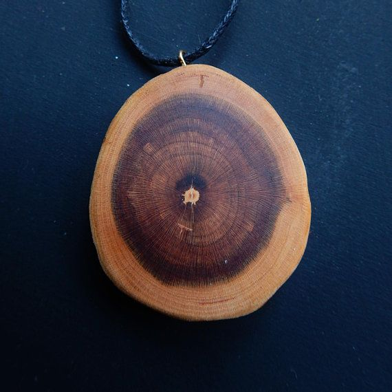 Wooden necklace. Almond tree Prunus dulcis wood necklace.