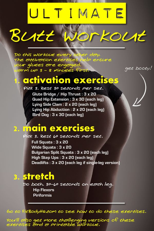 The Ultimate Butt Workout | FitBodyHQFBHQ for Fitness, Health, Positivity.