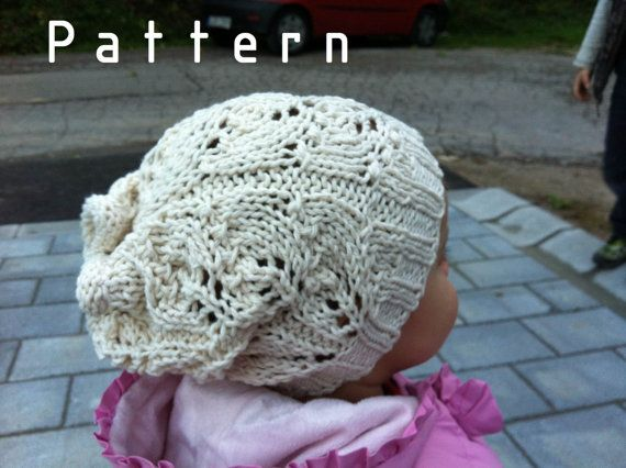 Knitting PATTERN ONLY for The White Leaf Hat for Toddler $5.00 USD Overview     Handmade Supply     Instant Digital Download: 1 PDF included
