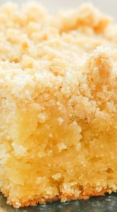 Lemon Coffee Cake ~ Can be Made with or without Warm Lemon Butter Glaze