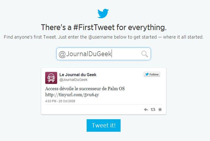 Twitter fête son 8ème anniversaire avec #FirstTweet !