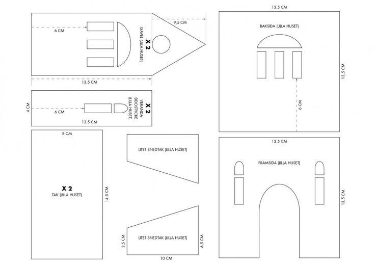 pepparkakshus ritning 1