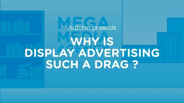 Why is display advertising such a drag? by Adform. Execution by WhatWeDo #animate #viralanimation