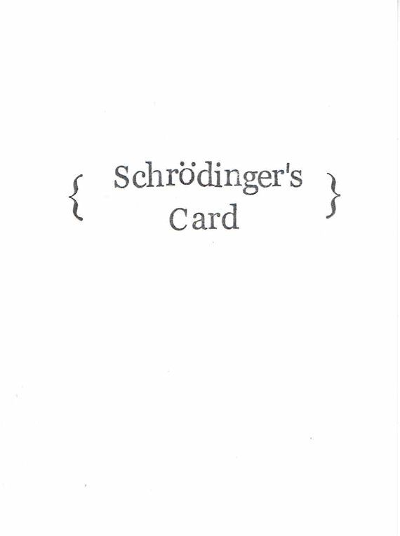 Schrodinger's Card With Message Inside  Funny by ModDessert