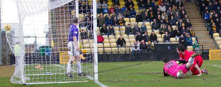 Queen's Park's Chris Duggan scores during the SPFL League Two game between East Fife and Queen's Park.