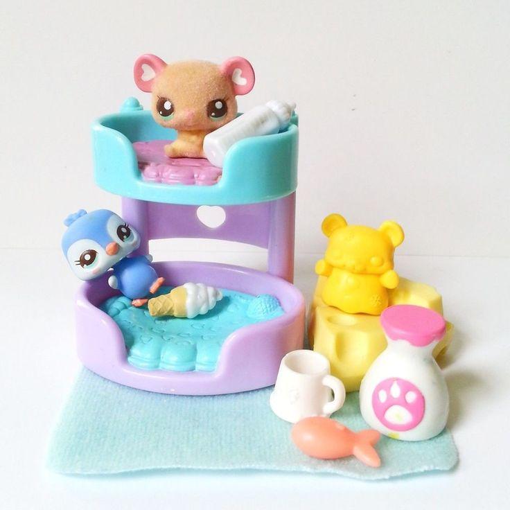 Littlest Pet Shop Cutest Baby Penguin #2496 Ultra Rare Mouse #2477 Toys Nursery #Hasbro