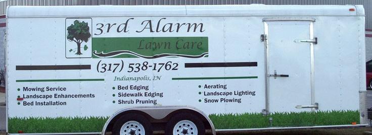 3rd Alarm Lawn Care / trailer graphics / trailer wrap