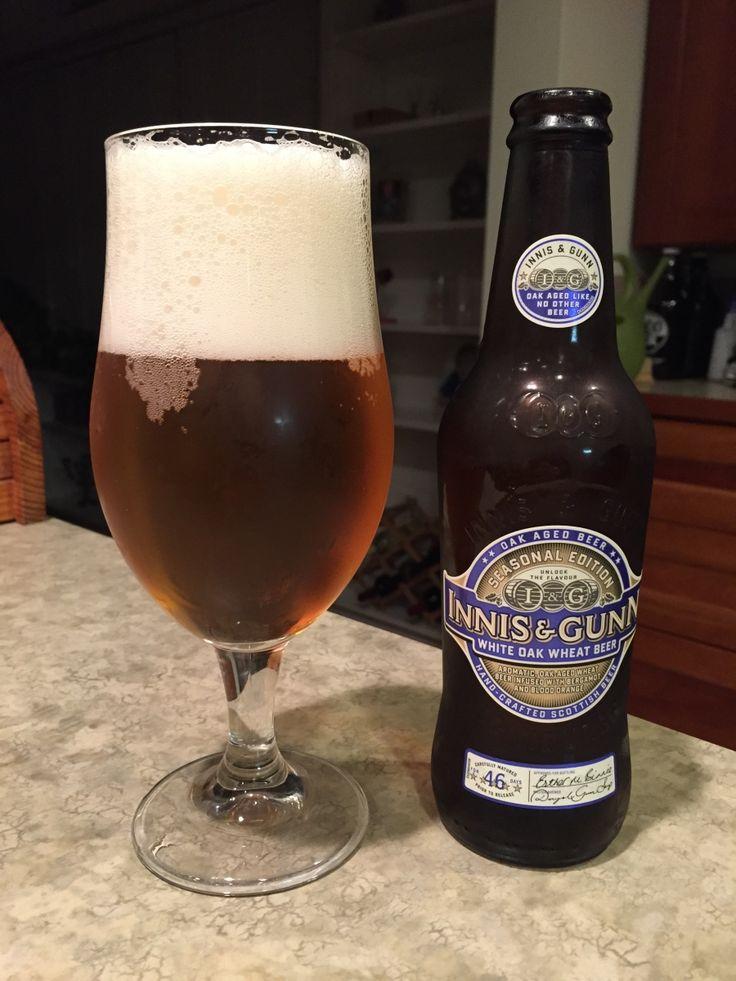 Innis & Gunn White Oak Wheat Beer:  Day 334: Innis & Gunn White Oak Wheat Beer from Innis & Gunn Brewing Company. Style of beer is 'Wood-Aged Beer'. ABV is 6.4%.   Read more at http://www.beerinfinity.com/beer-of-the-day-innis-gunn-white-oak-wheat-beer/.