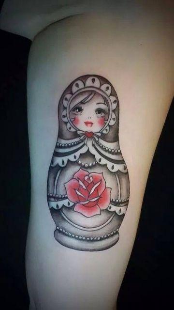 Tattoo-Foto: Matroschka