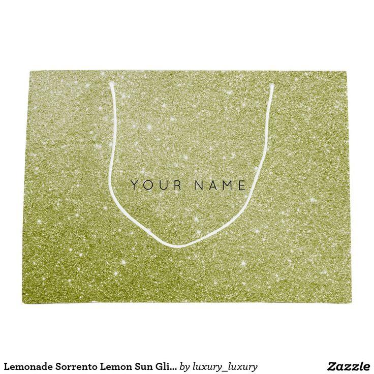 Lemonade Sorrento Lemon Sun Glitter Favor Gift Bag